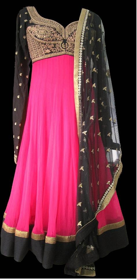 Love the pink and black combination!