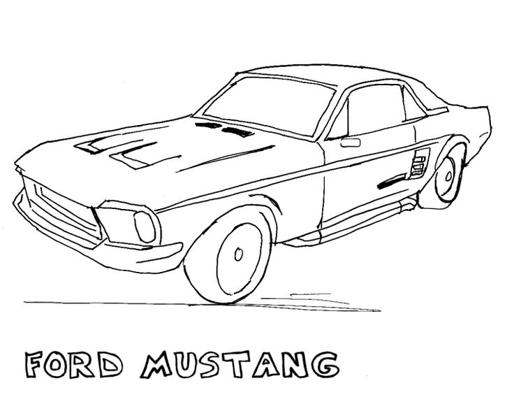 Ford Cool Mustang Coloring Pages