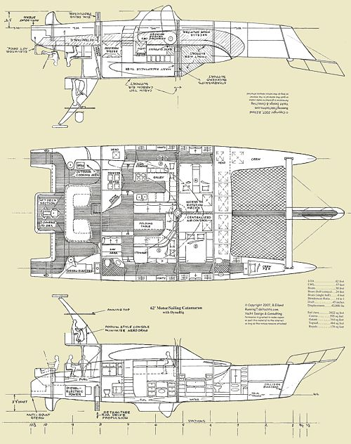 Catamaran layout google search archipelago pinterest for Boat floor plans
