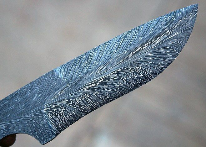 feather damascus blade