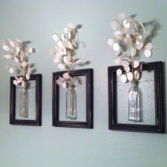diy flower wall art with picture framesdiy ideas to brilliantly reuse old picture frames into home decor very creative ive done this love it