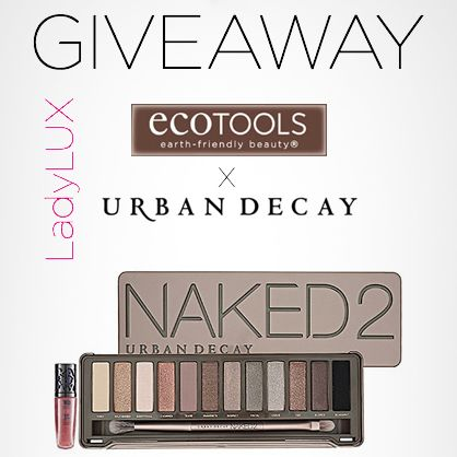 Enter to win a LUX giveaway featuring the Naked 2 palette from Urban Decay and a set of EcoTools brushes