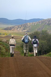 In the Eastern Cape Highlands, prize flyfishing waters can be found near the tiny village of Rhodes...