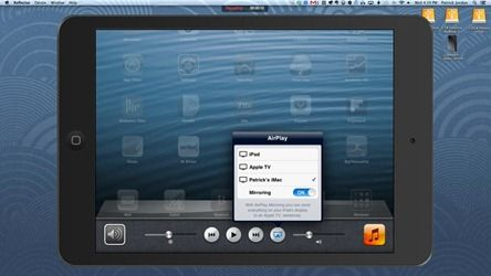 How to Record AirPlay Mirroring Sessions with the Reflector App  AirPlay Mirroring is easily one of the coolest features of iOS. Mirroring everything that happens on your iPad (or iPhone) to an HDTV or to your Mac is awesome and can also be incredibly useful for screencasts and demos.