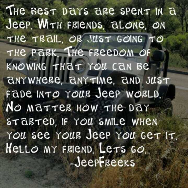 the best days are spent in a jeep