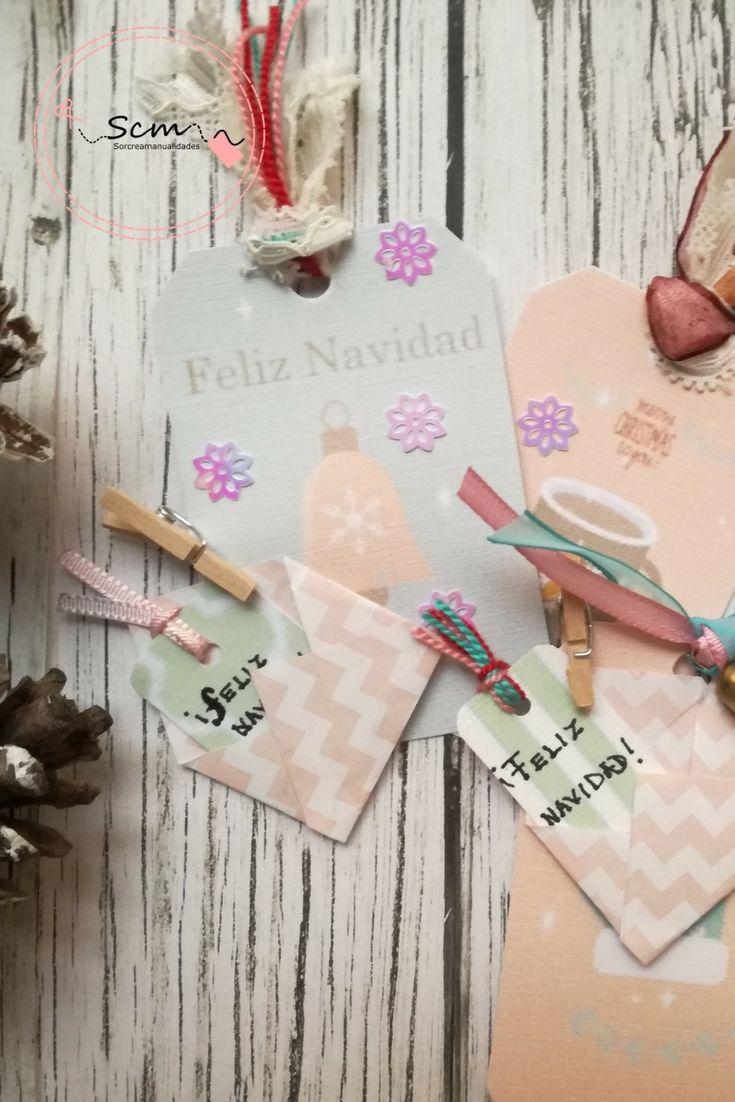 Etiquetas para decorar los detalles y regalos en Navidad