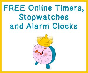 Free Online Timers, Stopwatches and Alarm Clocks