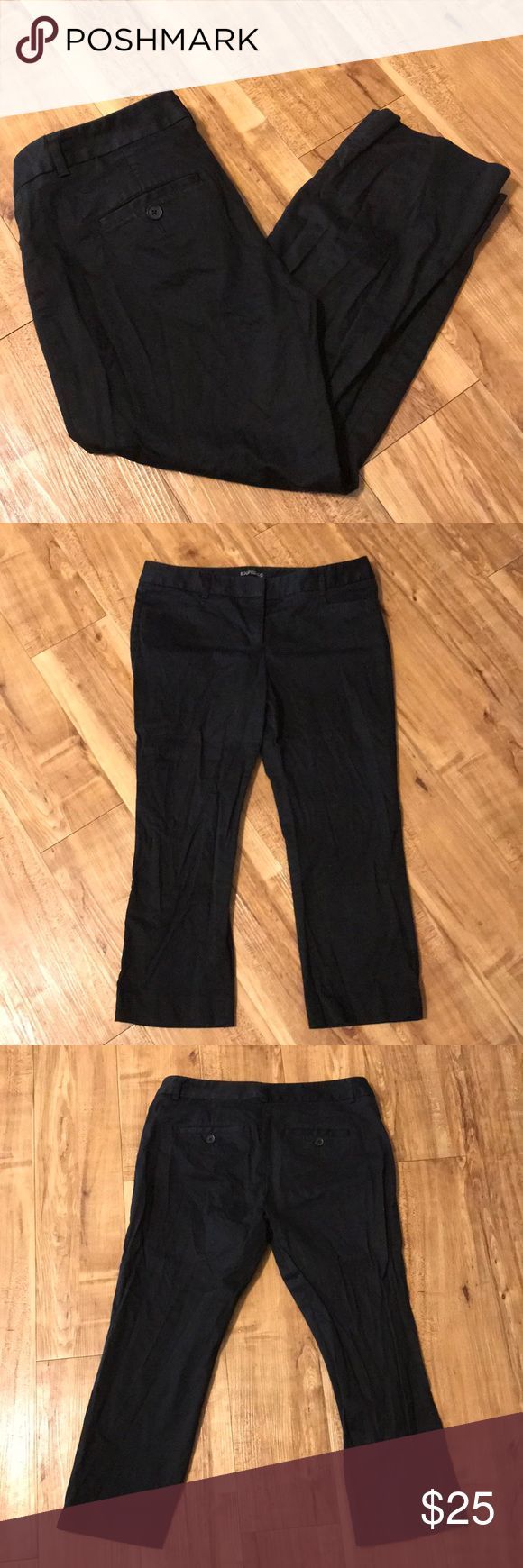 Express Columnist Capri Pant Trousers This is in a great pre-owned condition. No visible flaws. They just need ironing—I'm obviously horrible with an iron. 😂 Express Pants Capris