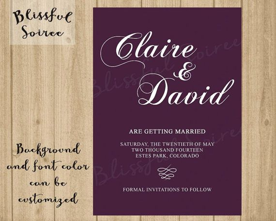 Printable Save The Date  Script Save the Date  Calligraphy