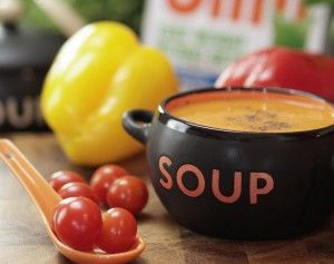 Sweet Cherry Tomato and Roasted Pepper Soup Recipe
