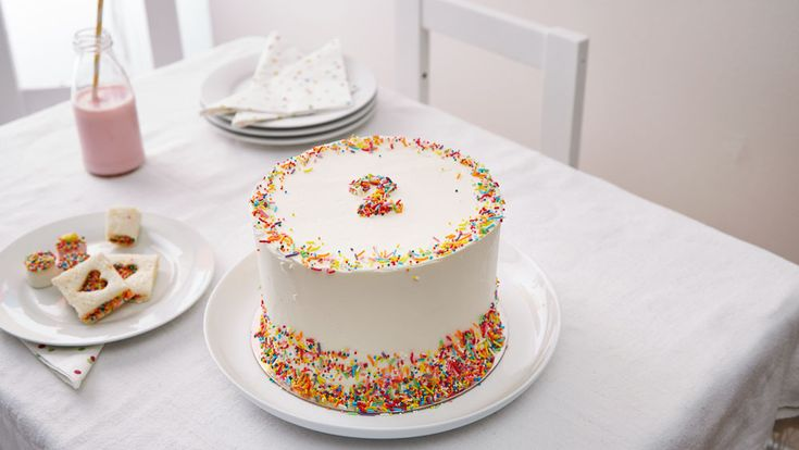 Sprinkle number cake - This colourful cake is fun to look at, delicious and simple to prepare. Perfect for a no fuss party.