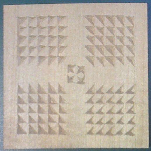Chip carving patterns #3: Grid pattern #1 - by lovestoys @ LumberJocks.com ~ woodworking community