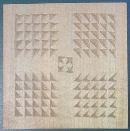 Chip carving patterns #3: Grid pattern #1 - by lovestoys @ LumberJocks.com ~ woodworking community