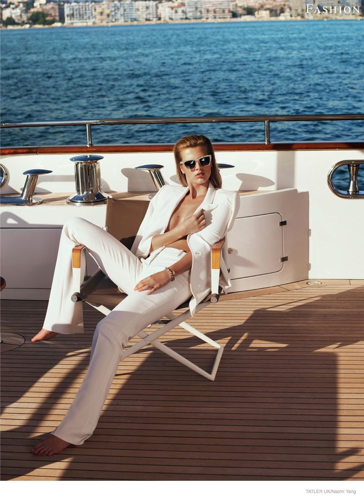 """""""Hello Sailor"""" Tamara Weijenberg graces the pages of Tatler UK's yachting supplement. Photos by Naomi Yang"""