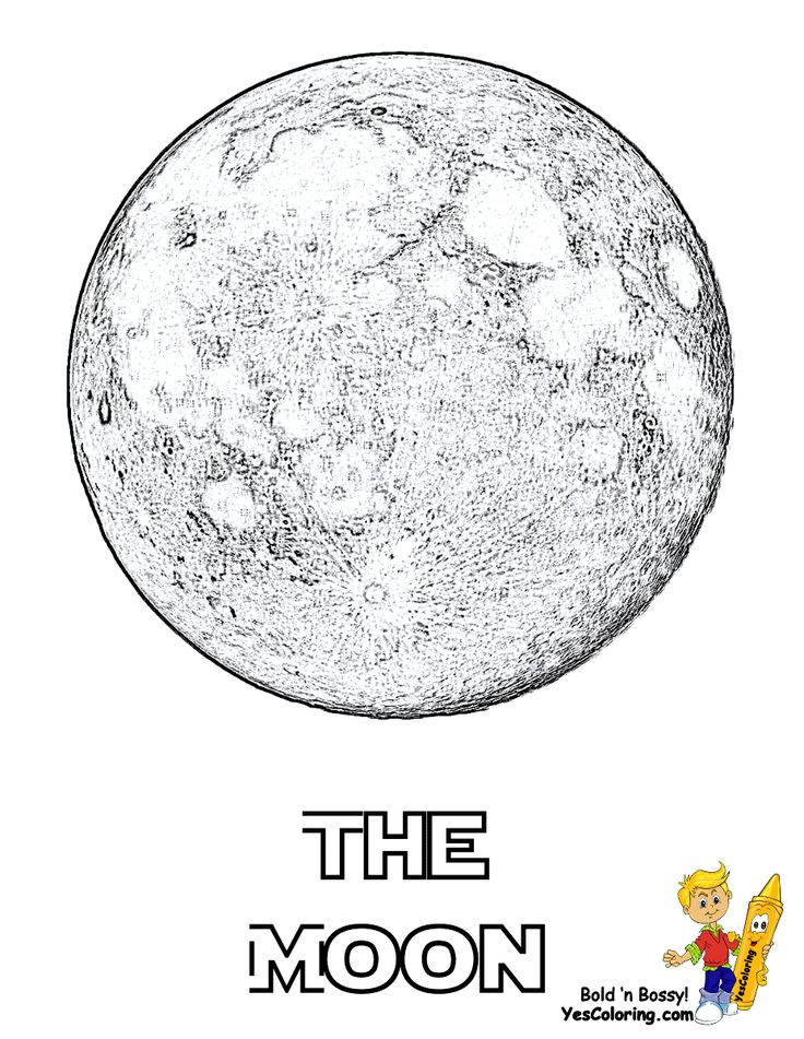 Pin by YesColoring Coloring Pages on The Moon Coloring