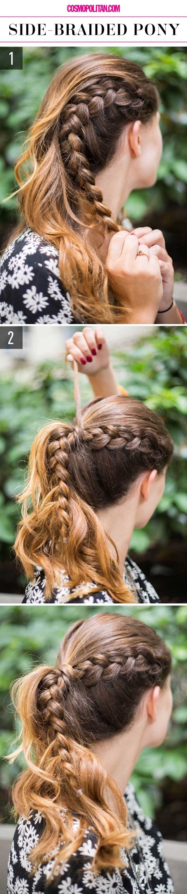 How to upgrade your ponytail with a side braid.