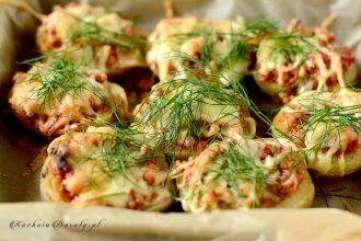Pieczone Ziemniaki Faszerowane. Doskonały pomysł na obiad lub cieplą kolację.