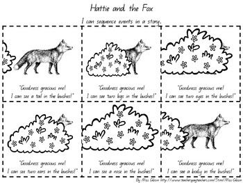 HATTIE AND THE FOX SEQUENCING ACTIVITY