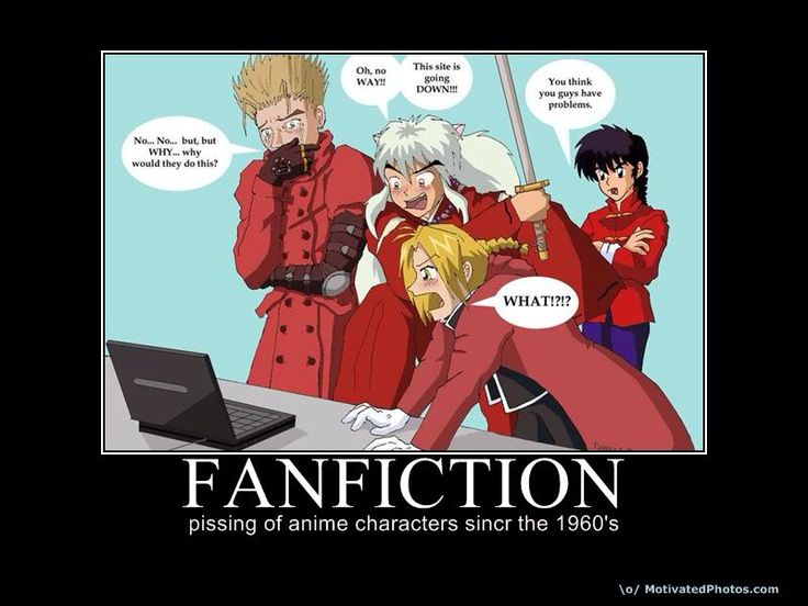 Fanfiction: Vash, Inuyasha' Edward, and Ranma.