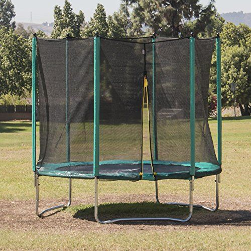 Akonza 10' ft Round Trampoline Set With Safety Enclosure and Padding - http://www.exercisejoy.com/akonza-10-ft-round-trampoline-set-with-safety-enclosure-and-padding/fitness/