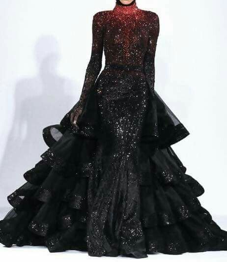 Dress by Michael Cinco.