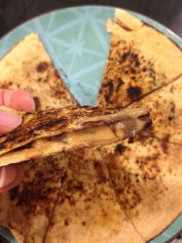 PB Chocolate Dessert Quesadilla