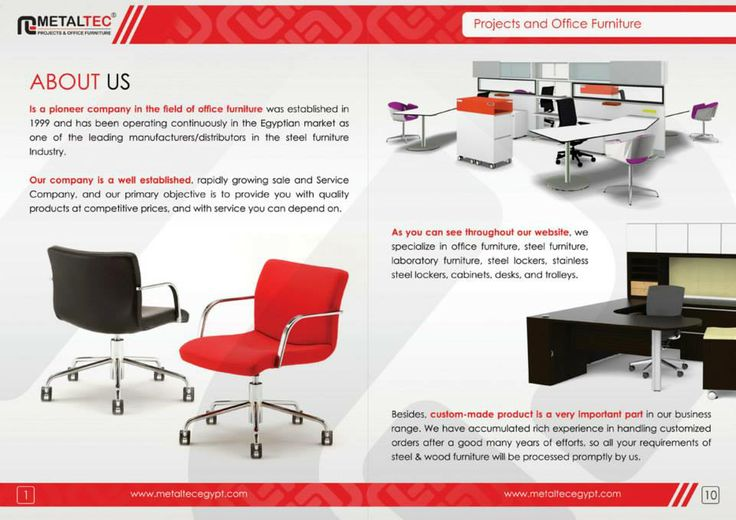 Brochure Internal Page Design For Office Furniture Company DOT   Office Furniture  Companies
