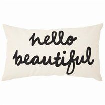 Expressions Pillow – Hello Beautiful