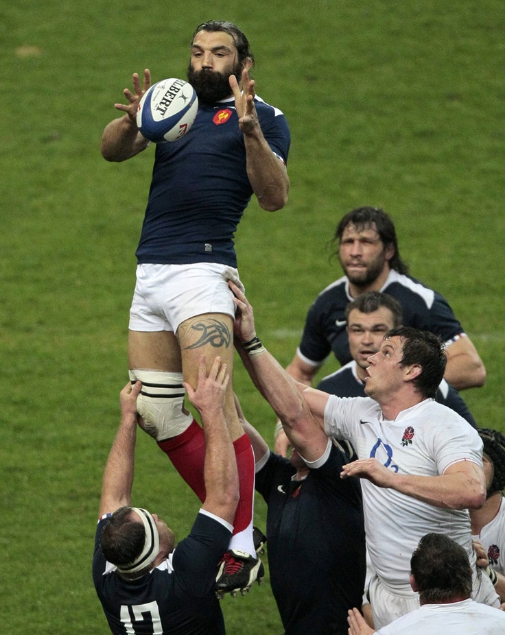 "Sébastien Chabal, ""Les Bleus"" (National France Rugby Team)."