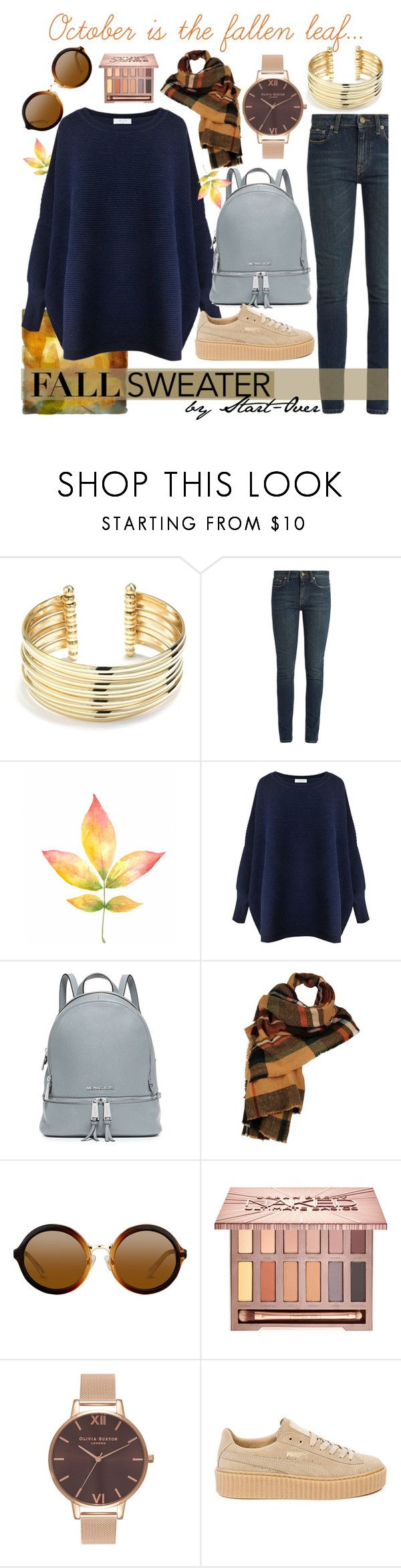 """Fallen Leaf"" by start-over ❤ liked on Polyvore featuring Belk Silverworks, Yves Saint Laurent, Paisie, MICHAEL Michael Kors, Wilsons Leather, Urban Decay, Olivia Burton and Puma"