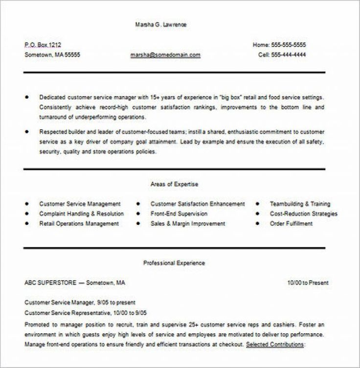 Customer Service Resume Sample and Tips Customer service