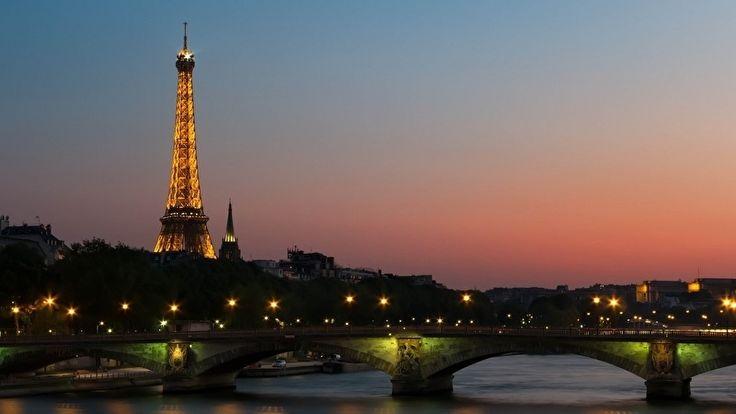 Fotobehang - Steden - Paris - Eiffel tower by night