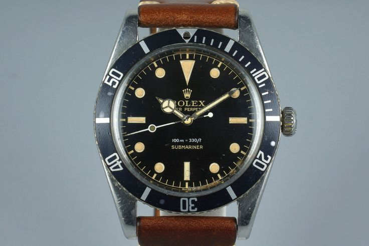 1958 Rolex Submariner 5508 Glossy Gilt Chapter Ring Dial