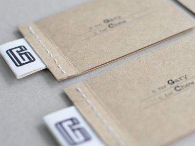 business cards - sewn edges!!!  Nice!