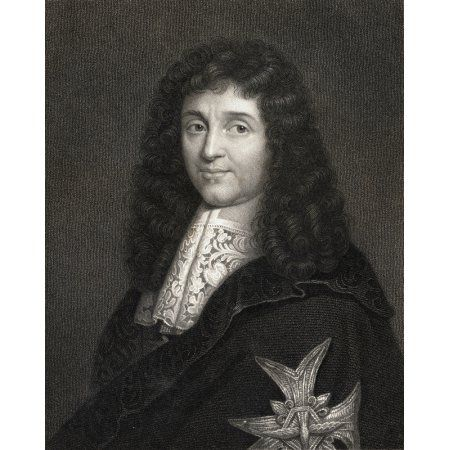 Jean Baptiste Colbert 1619-1683 Controller General Of FinanceFrom 1665 And Secretary Of State For The Navy From1668 Under Louis Xiv From The Book Gallery Of Portraits Published London 1833 Canvas Art