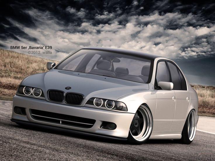 Wallpaper mit dem schnellen dauerhaften Auto BMW 5 ER E 39 Bayern
