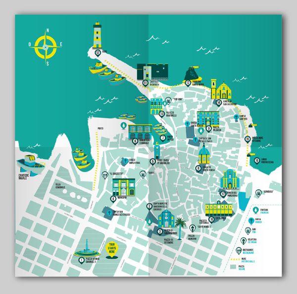 Mondopolitani Free Tour Guide by Cláudia Alexandrino, via Behance