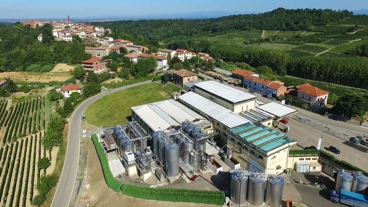 Aerial view of the winery