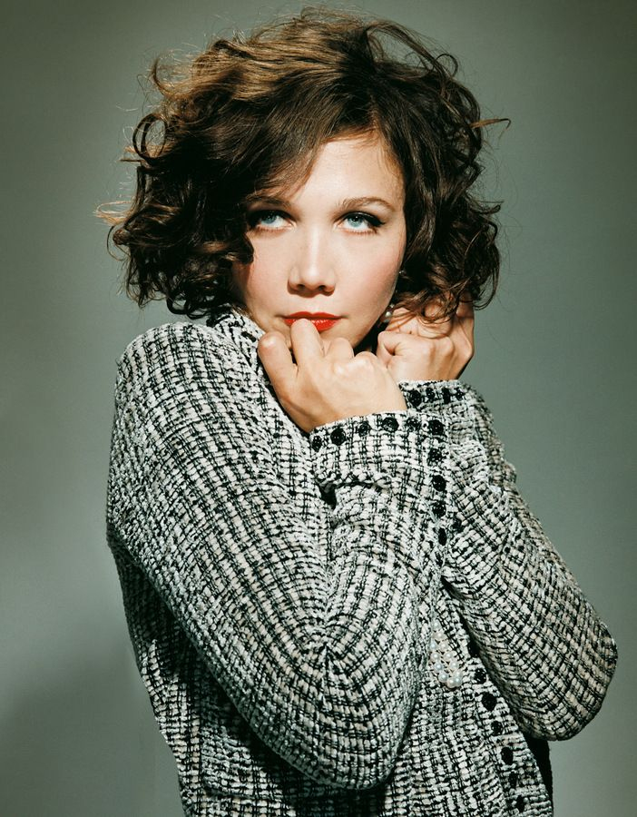 Maggie Gyllenhaal Curly Bob Maquillage Coiffure