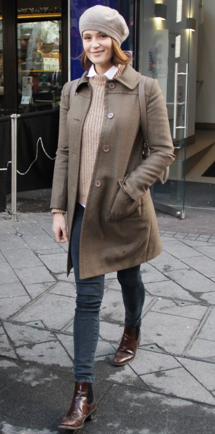 Celebs Bundled Up: Gemma Arterton #InStyle