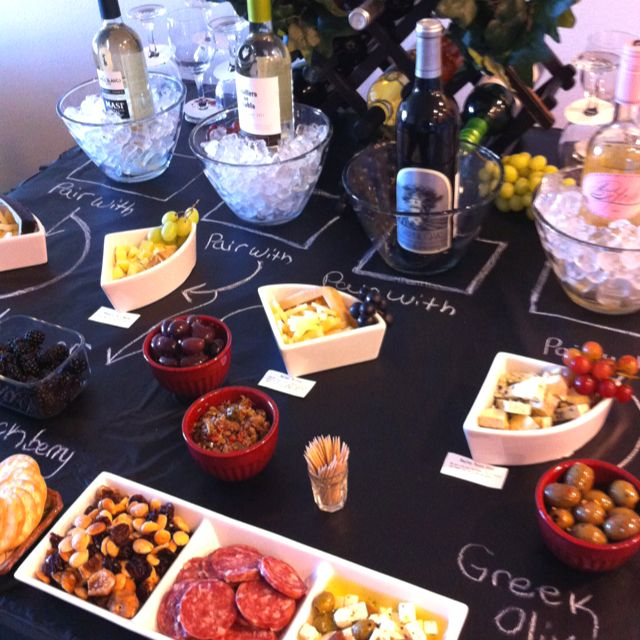 Wine Tasting Party A Simple Chalk Board Makes A Great Table Top Cash