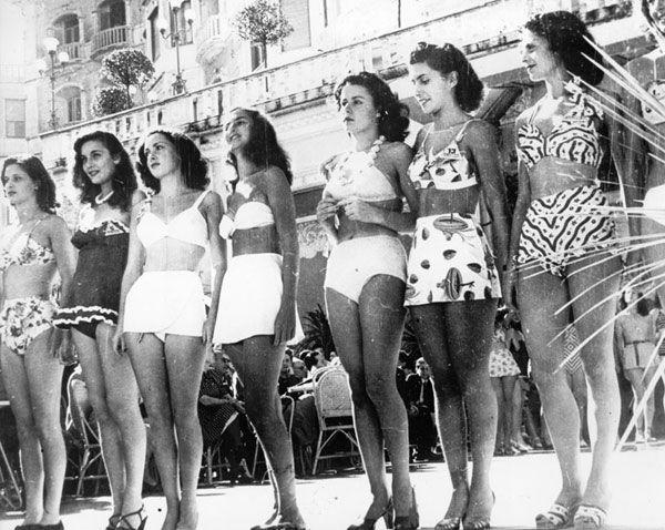 Miss Italia 1947, Gina Lollobrigida & Lucia Bosè among others