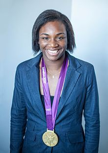 Claressa Shields-- (born March 17, 1995) is an American boxer, and the current NABF Female Middleweight title holder. She won the gold in Women's Middleweight Boxing at the 2012 Summer Olympics and the 2016 Summer Olympics, which made her the first American boxer, male or female, to win an Olympic title twice in a row.