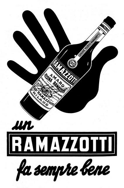 Amaro Ramazzotti. Pubblicità degli anni '50. by supermolly, via Flickr