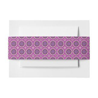 Belly Band for party invitations Pink flower design #zazzle #invitations
