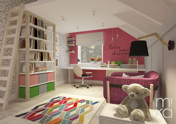 Girl's room in the attic
