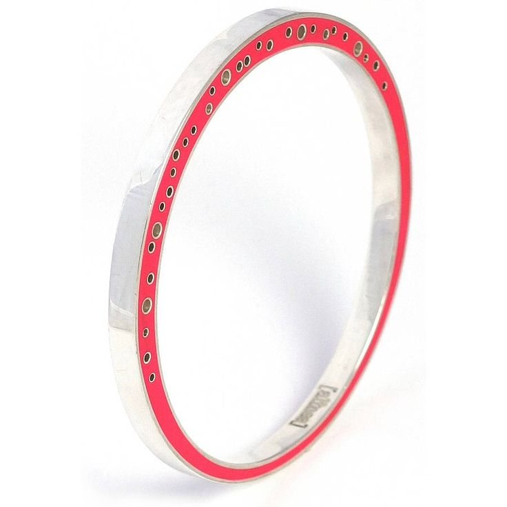 Www.notonthehighstreet.com                     Silver and resin bangle