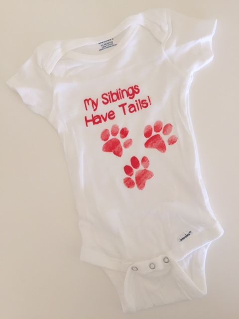 Baby onesie, My siblings have tails | Checkout the newest baby gear - handmade by Sew State Of Mind.   https://www.facebook.com/SewStateOfMind @SewStateOfMind