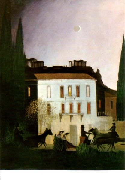 Tivadar Csontvary Kosztka (1853-1919) - Promenade at New Moon in Athens