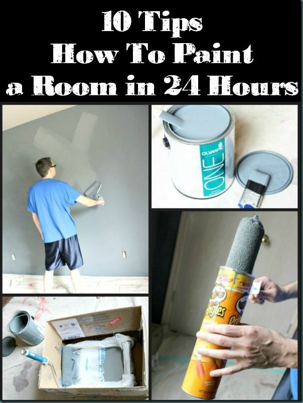 10 Tips for Painting Walls  - a must read if you have a room to paint!